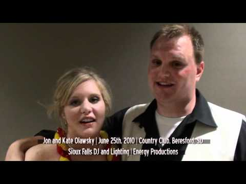 Jon and Kate Olawsky Wedding Review | June 25th | Sioux Falls DJ | Energy Productions