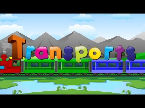 types of transports vehicle  Learn Transport Vehicles for children and kids