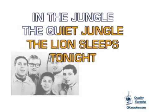 The Tokens - The Lion Sleeps Tonight (Karaoke Instrumental) w/ Lyrics