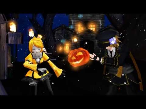 MMD Len and Rin  trick and treat(rus)