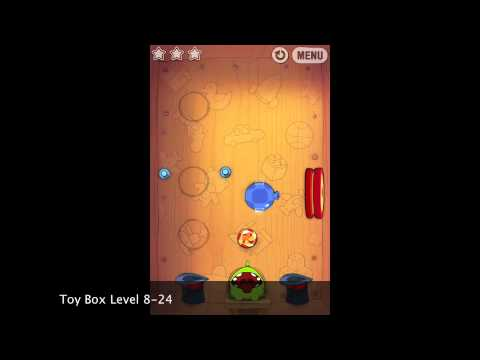 Cut The Rope Toy Box 8-24 5160 points improved result Walkthrough video gameplay