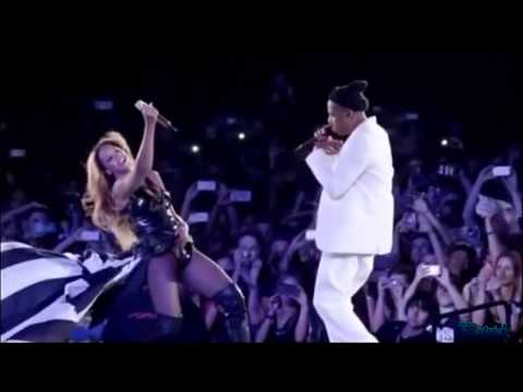 "Beyonce And Jay Z ""Forever Young"" ""Halo""Paris Stade de France On The Run Tour【HD】."