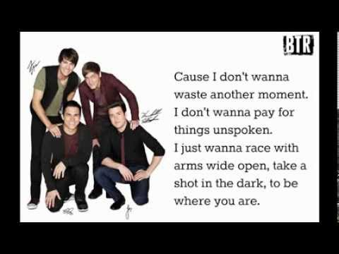 Big Time Rush-Shot In The Dark Lyrics [Studio Version-Full Song!]