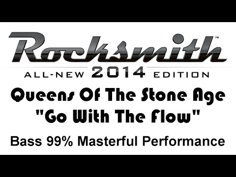 "Queens of the Stone Age ""Go With the Flow"" Rocksmith 2014 Bass 99%"